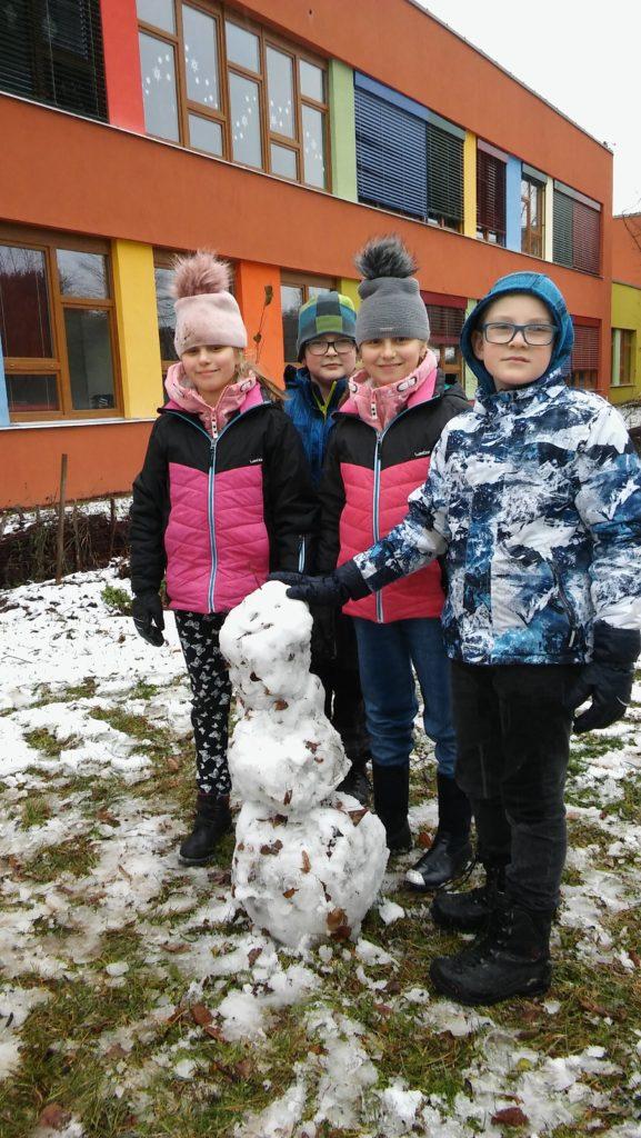 První sněhulák