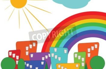 colorful-city-with-sun-and-rainbow-400-48298707