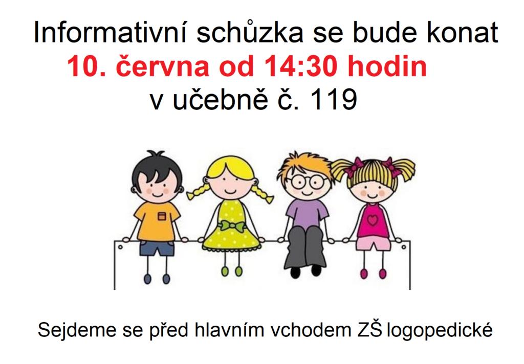 Informativní schůzka pro rodiče budoucích prvňáčků