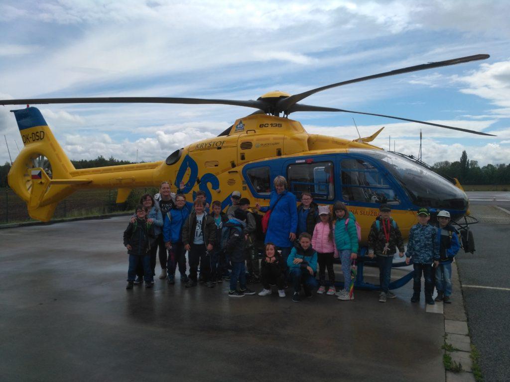 Exkurze u Letecké zdravotní záchranné služby královéhradeckého kraje