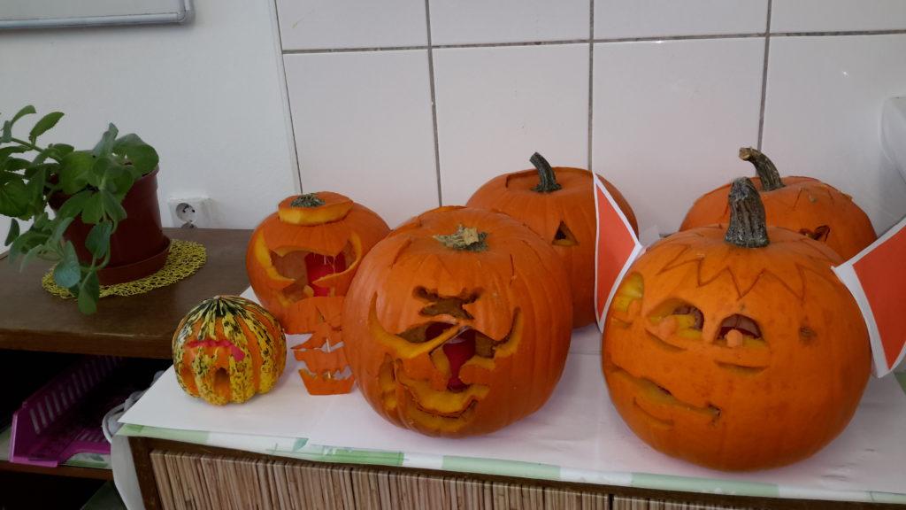 Halloweenské dopoledne v 9. třídě