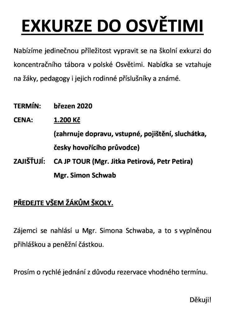 Nabídka exkurze do Osvětimi v Polsku