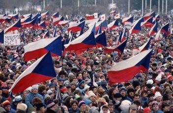 Crowd During Velvet Revolution
