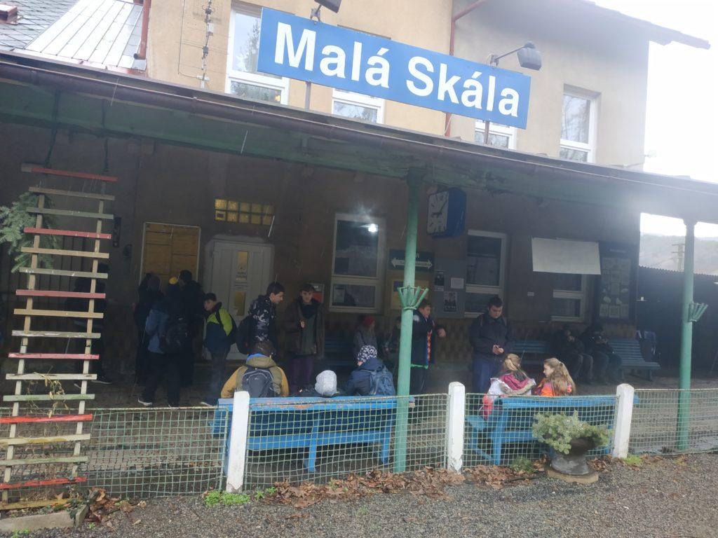 Fotky ze zimního turistického kurzu z Malé Skály