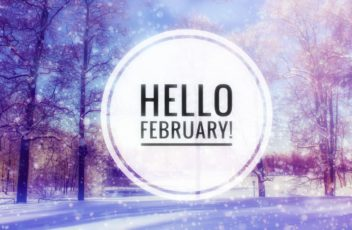 Hello February Photo. The Beginning Of The New Year. Greeting Ca