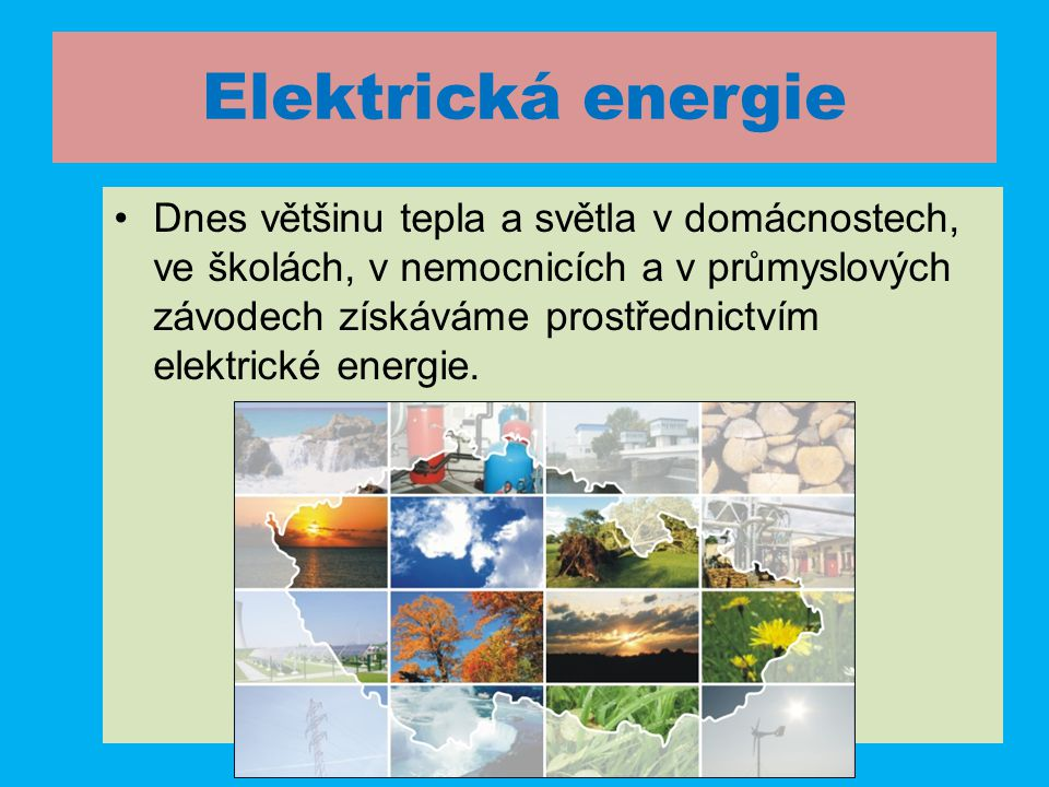 Přírodověda - Člověk a energie