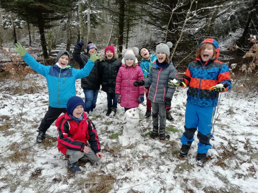 Tělesná výchova v zimě