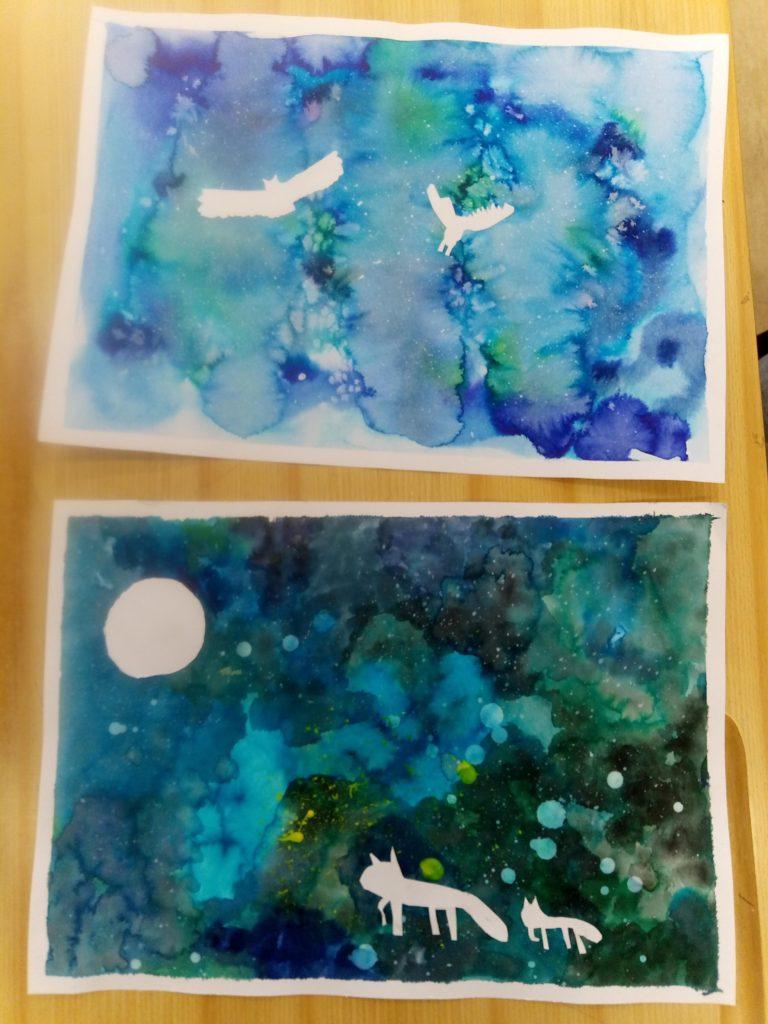 Zimní malování ve školní družině - 3. oddělení