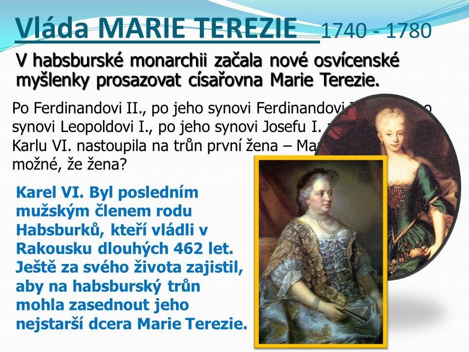 Vlastivěda - VLÁDA MARIE TEREZIE